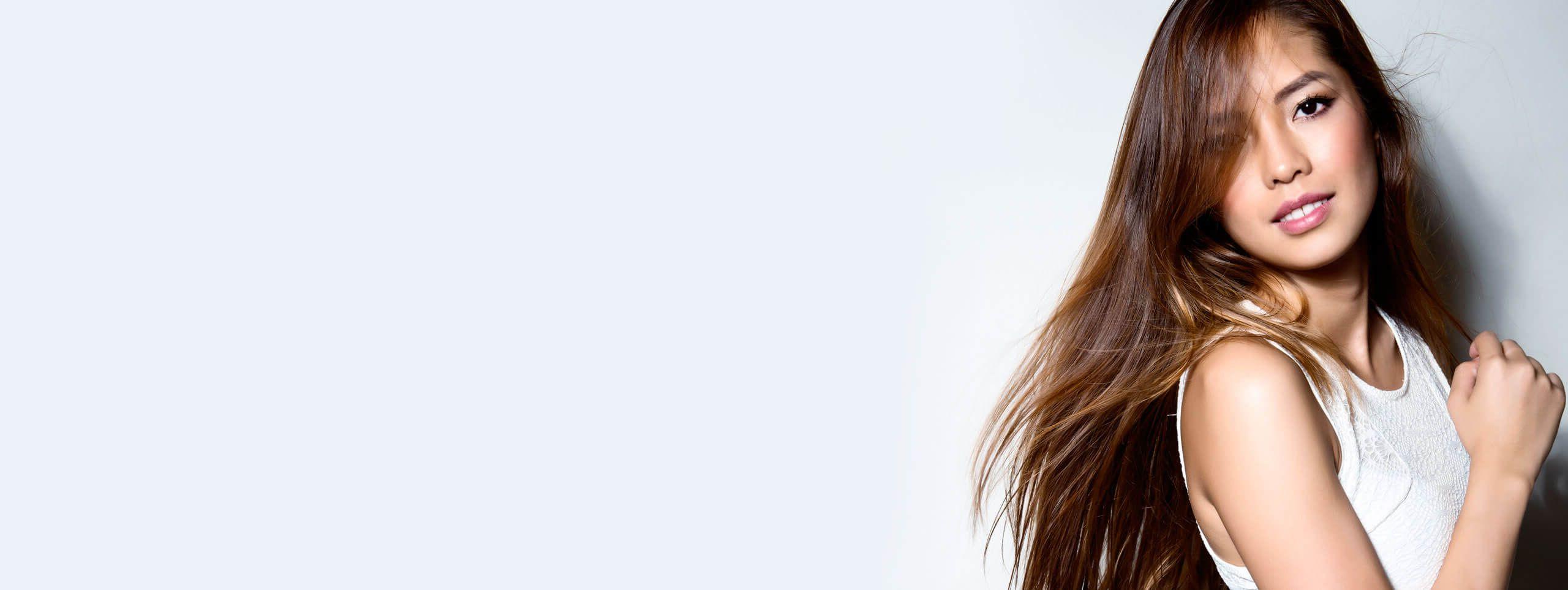 Mannequin cheveux lisses