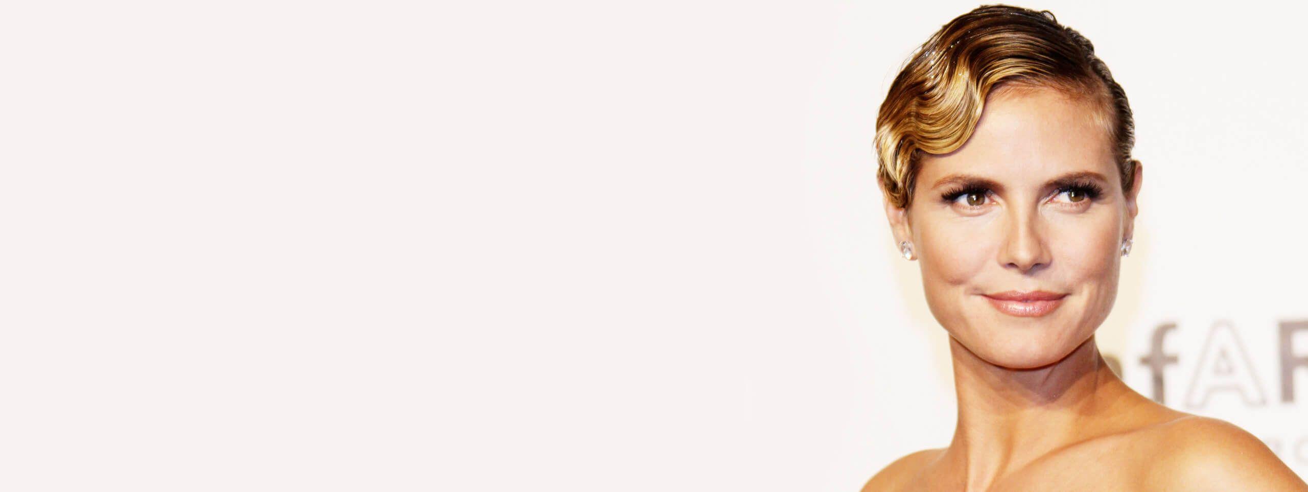 Heidi Klum coupe crantée