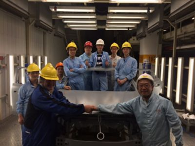 Henkel team with first surface treated vehicle body after plant upgrade