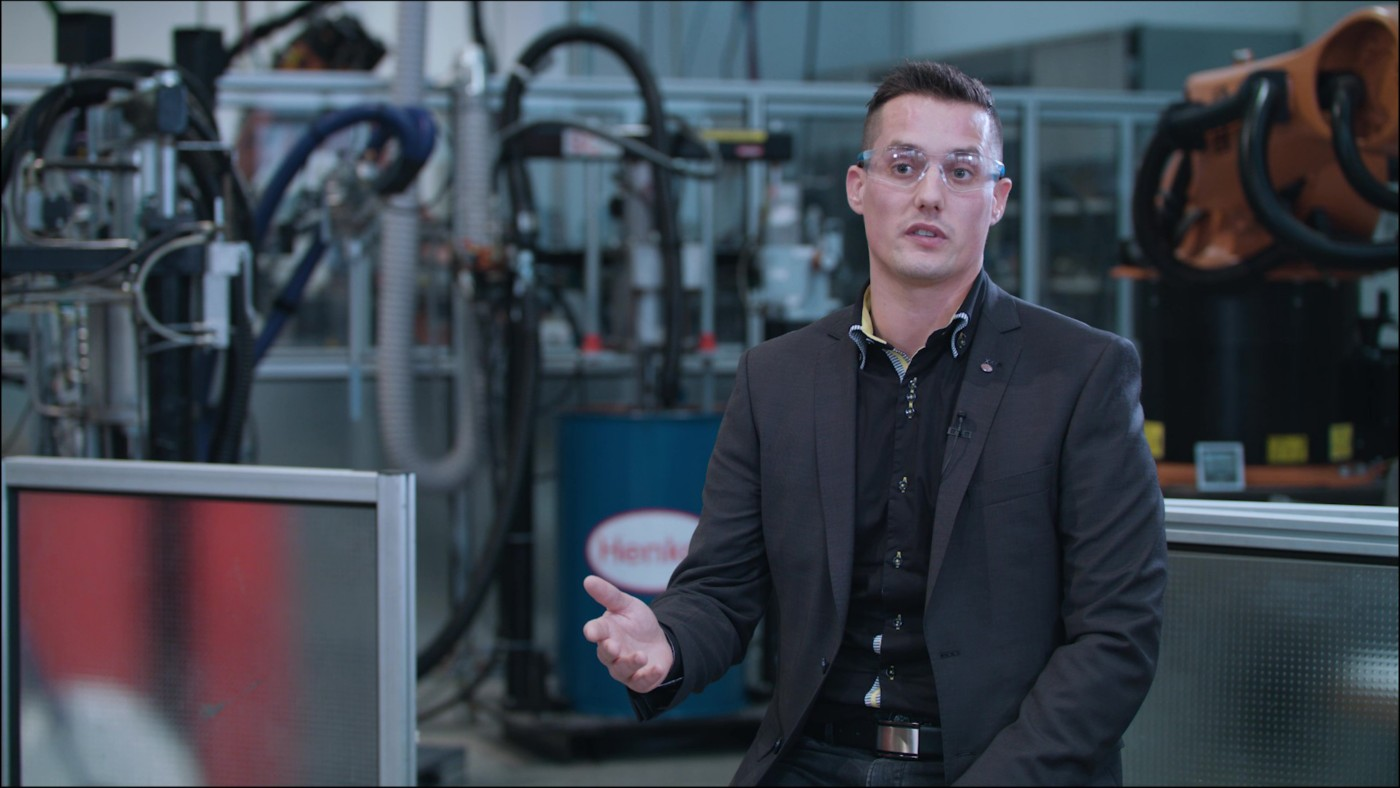 Image still taken from video interview with technical customer service Nicolas Riem