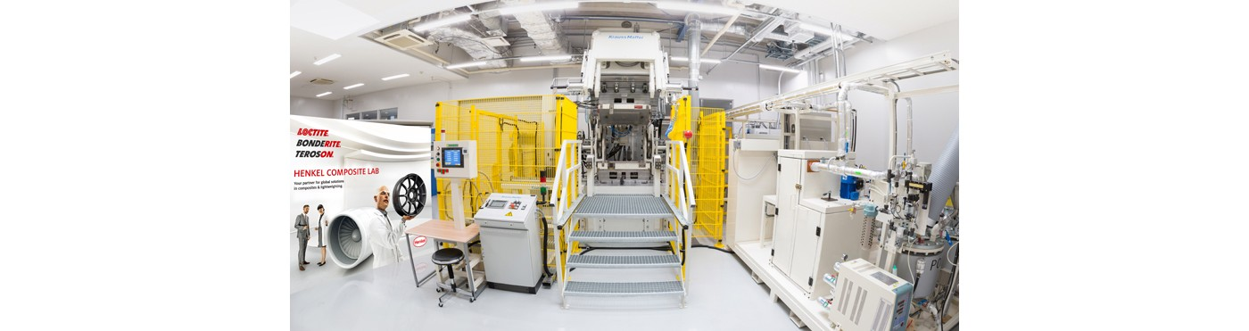 HP Resin Transfer Molding machine inside Japanese  composite testing facility