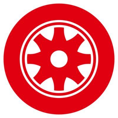 赤い車輪の図