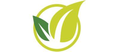 Gree leaf icon symbolizing environmentally friendly processes