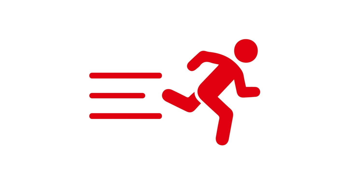 Icon of red running man represents lead time JPG 3300x1800