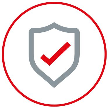 Icon of a shield representing quality and standards