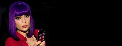 Jessie J rocks short purple hairstyle