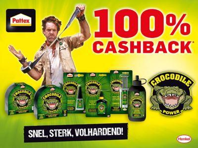 100% Cashback Pattex Crocodile Power