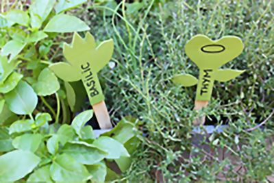 Crear etiquetas para tu jardín con NMC Original