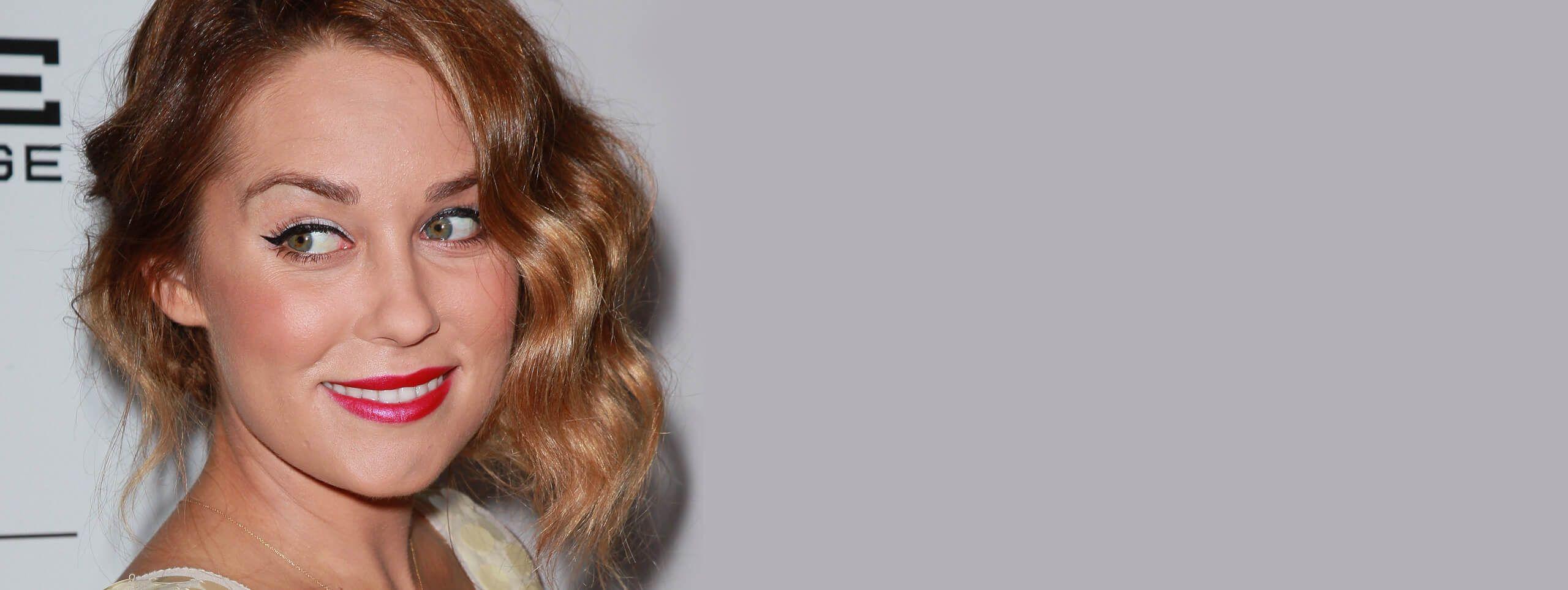 Lauren Conrad rocks caramel hair color trend