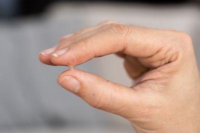 Pegamento en los dedos