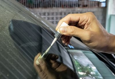 Glue on glass