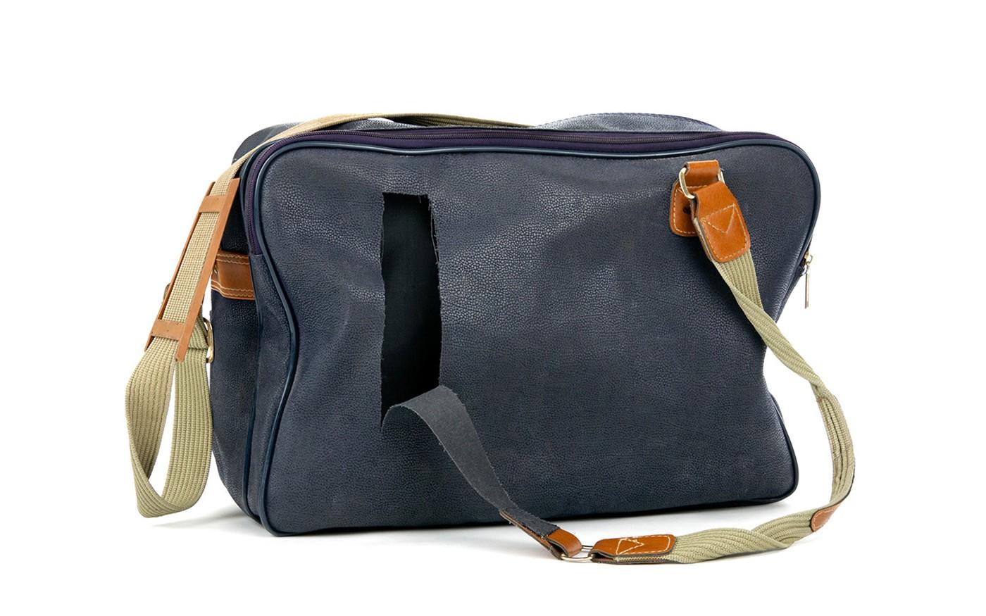 Leather handbag broken strap