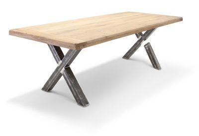 Broken metal table