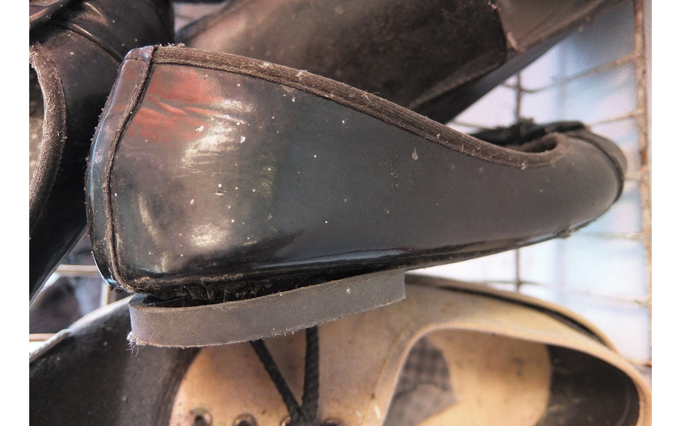 Shoes that have been glued