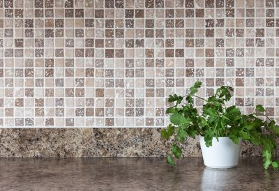 Mosaic tile kitchen