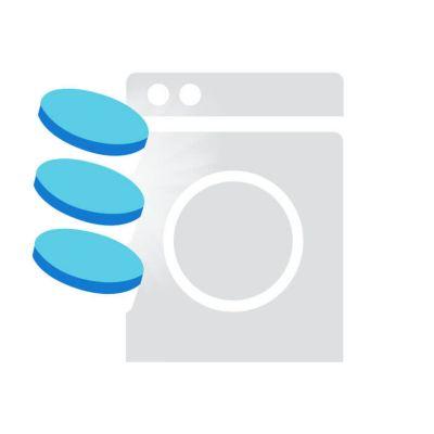 Persil Universal Tabs Dosierempfehlung: Symbol für 3 Persil Tabs