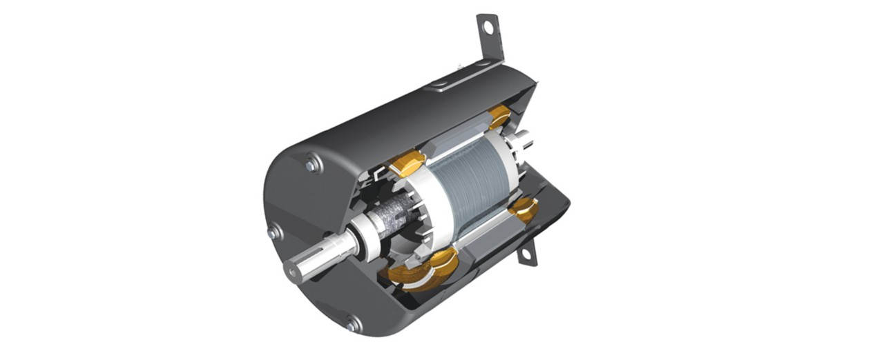 Wedge shot of electric motor