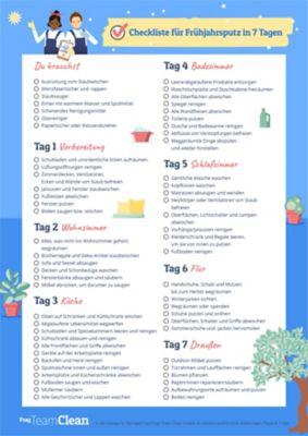 Ask Team Clean - Checkliste für Frühjahrsputz in 7 Tagen
