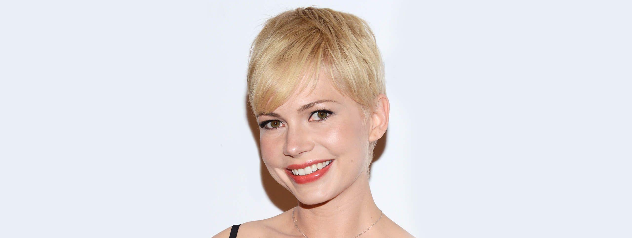 Michelle Williams z fryzurą pixie cut