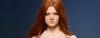 Redhead model rocks warm hair color trend