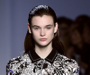 Model with slicked back hair