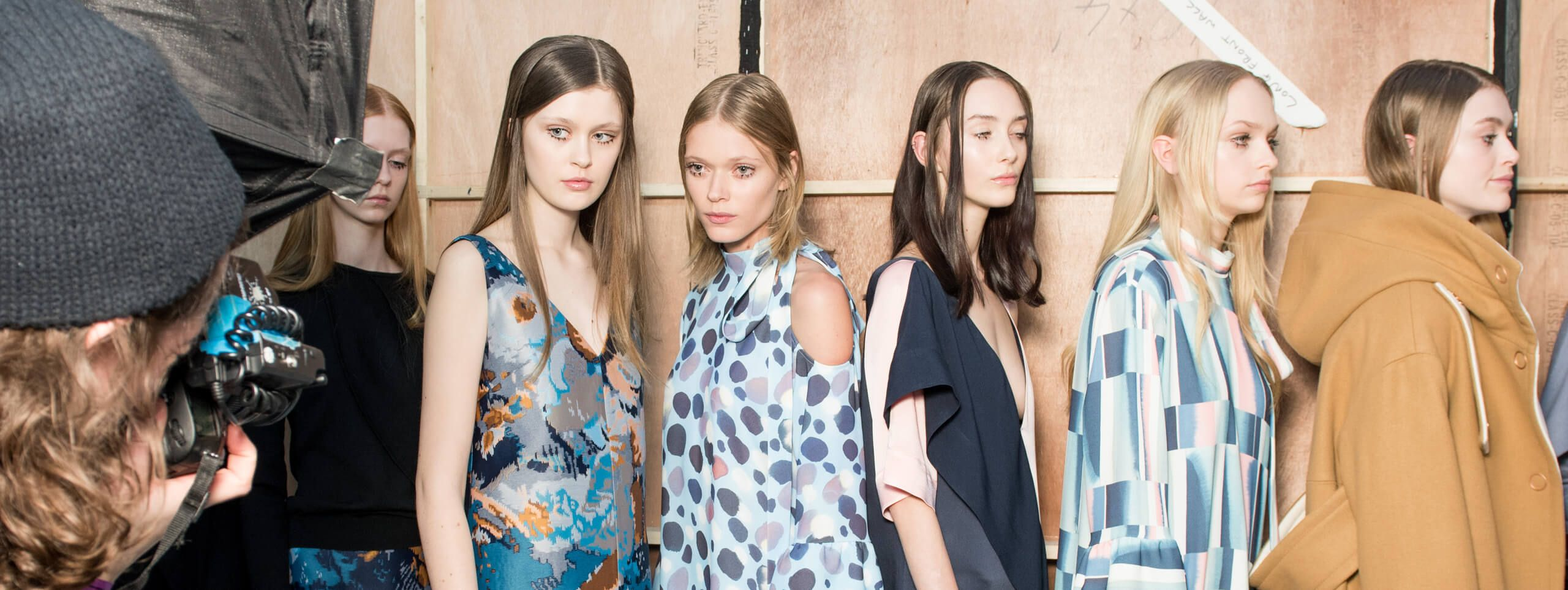 Models showcase short, medium and long hairstyles