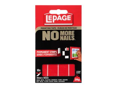No More Nails® Permanent Strips Mounting Tape