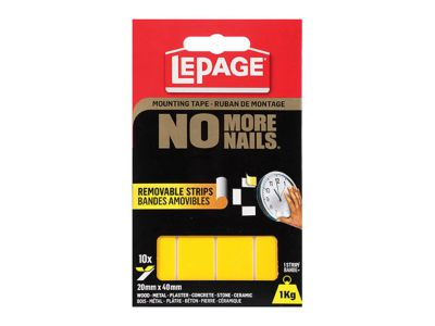 No More Nails® Removable Strips Mounting Tape