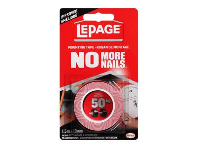 <div> No More Nails® Heavy Duty Mounting Tape&nbsp;</div>