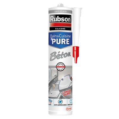 Mastic Joint Bain & Cuisine Pure Silicone Couleur Béton
