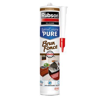 Mastic Joint Bain & Cuisine Pure Silicone Couleur Brun Foncé