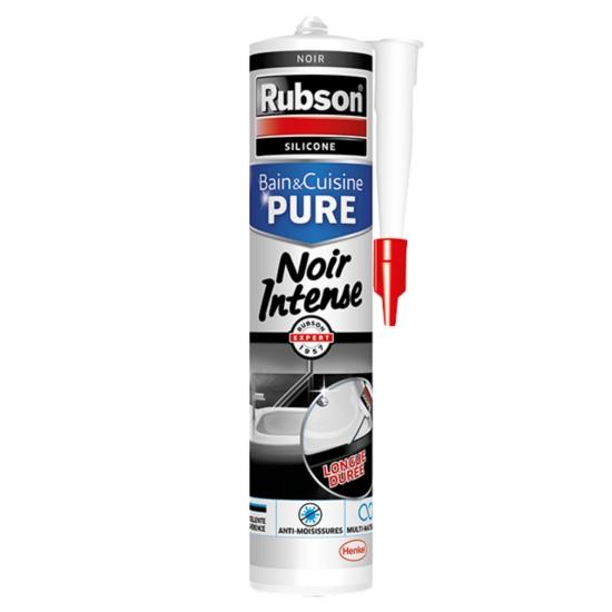 Mastic Joint Bain & Cuisine Pure Silicone Couleur Noir Intense