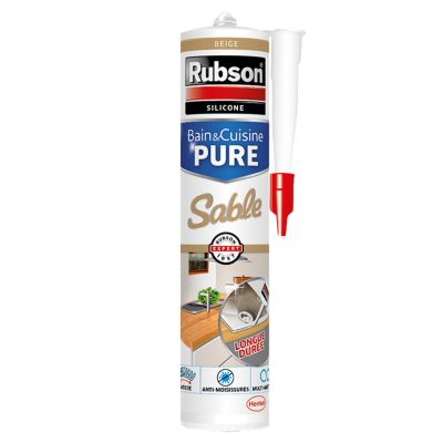 Mastic Joint Bain & Cuisine Pure Silicone Couleur Sable