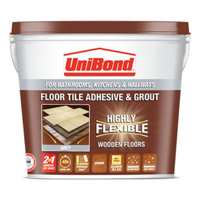 Floor tile adhesive & grout: Wooden floors