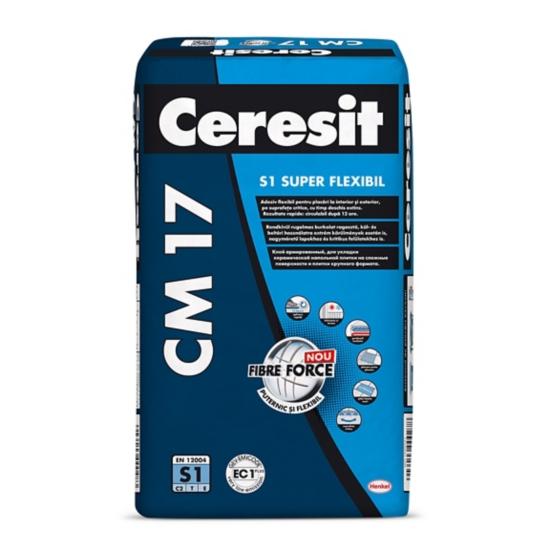 CM 17 Adeziv super-flexibil pentru gresie, faianta si piatra naturala