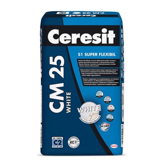 CM 25 Adeziv flexibil pentru placari ceramice si din piatra naturala in medii permanent umede