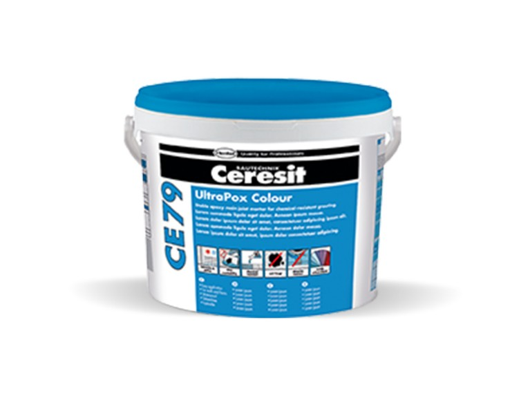 Ceresit CE 79 2-компонентна, устойчива на химикали, цветна епоксидна фугираща смес и лепило