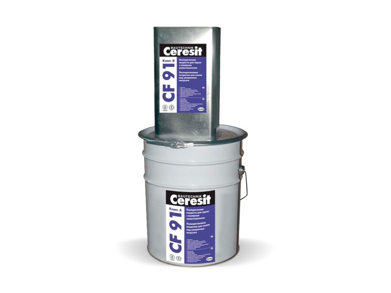 Ceresit CF 91 Двукомпонентно удароустойчиво саморазливно ПУ подово покритие