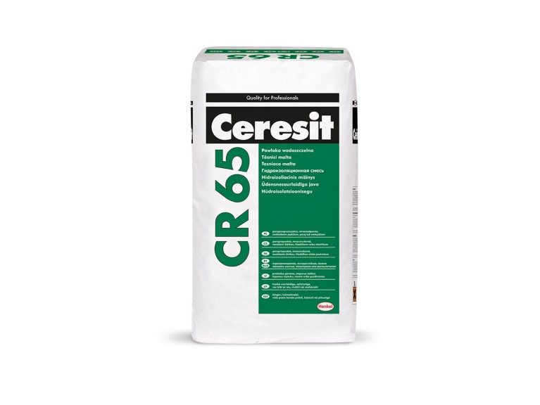 Ceresit CR 65 Хидроизолационен шлам за изолиране на сгради и строителни елементи