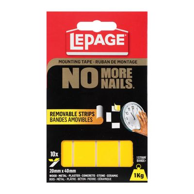 No More Nails® Removable Mounting Tape Strips