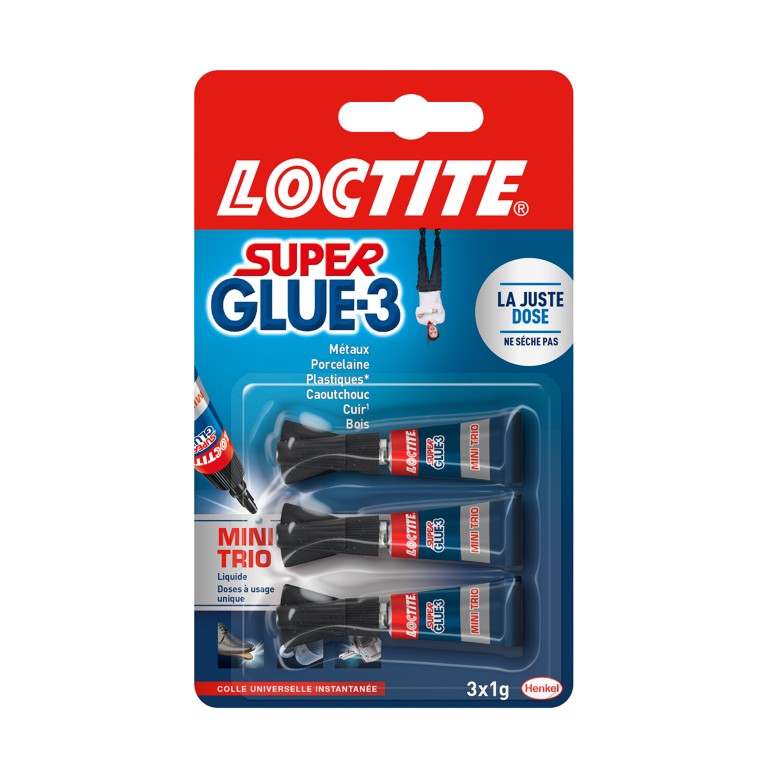 Colle Liquide Super Glue-3 Mini Trio