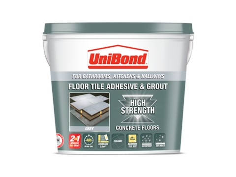 Floor tile adhesive & grout: Concrete floors