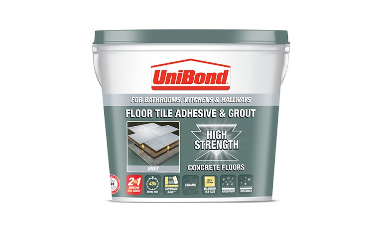 Unibond Rapid Set Floor Tile Grout Grey Carpet Vidalondon