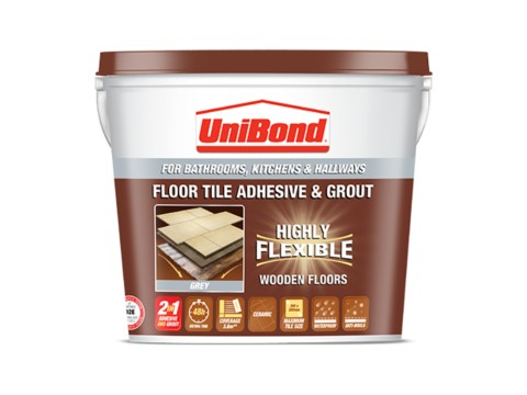 Floor tile adhesive & grout: Wooden floors