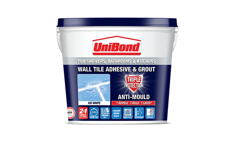 Wall tile adhesive & grout: Triple Protection Anti-Mould
