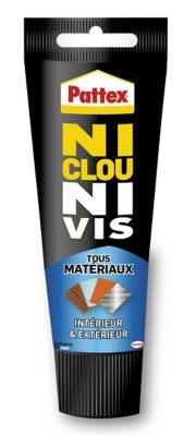 Pattex Ni Clou Ni Vis Tous Matériaux Intérieur et Extérieur