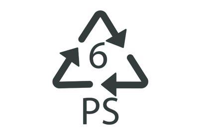 Recyclingsymbol für Polystyrol