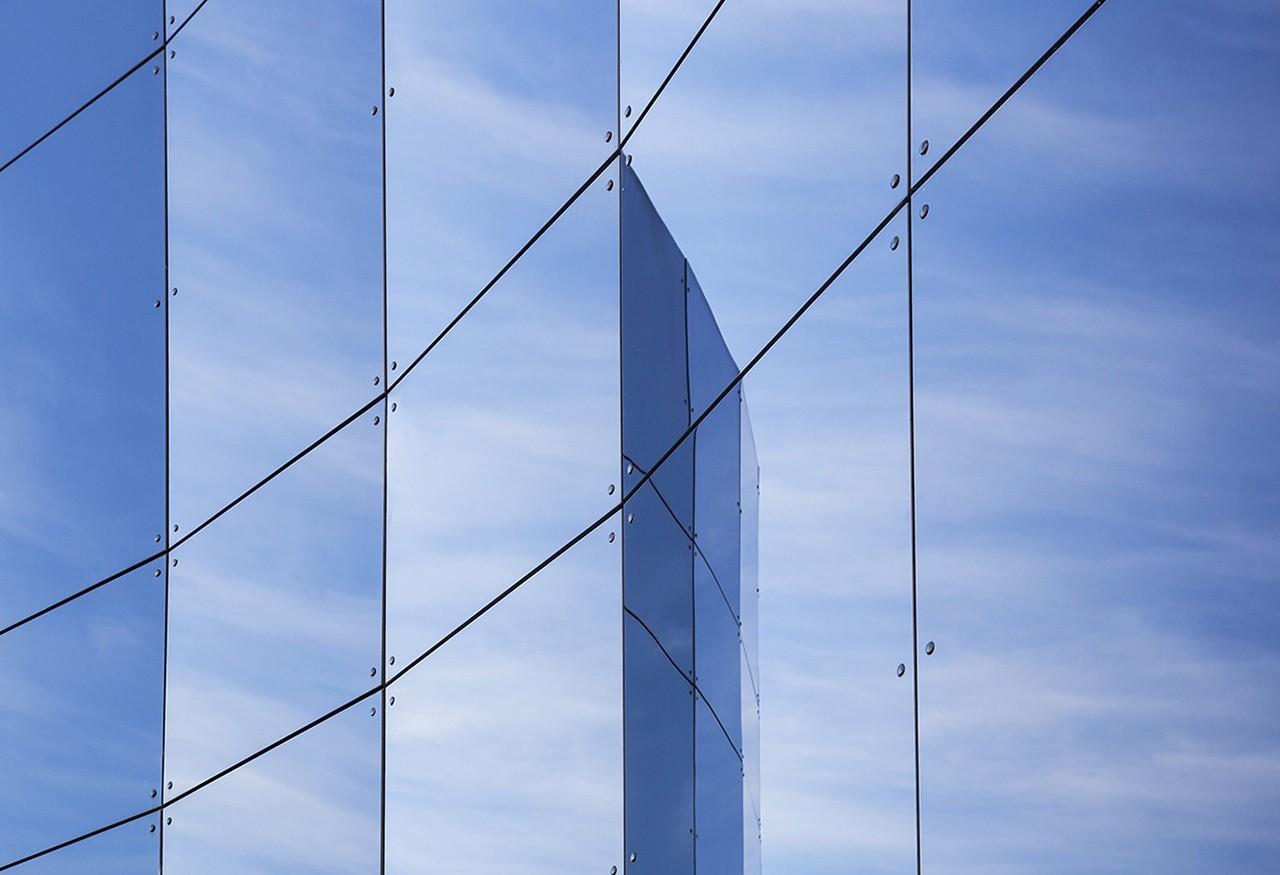 Saubere Glasscheibe