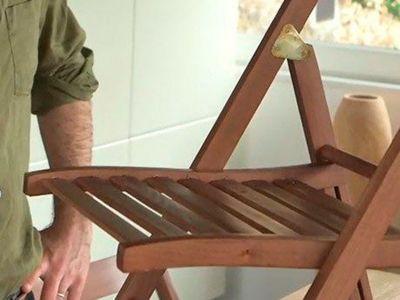 Napraw uszkodzone krzesło przy użyciu masy naprawczej Pattex Repair Express