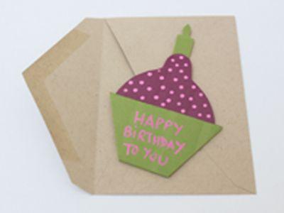 Születésnapi üdvözlőkártya készítése Pattex Total ragasztóval